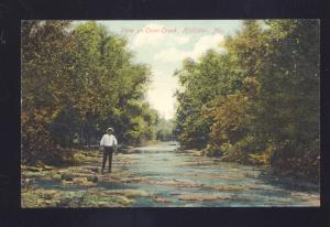 HOLLISTER MISSOURI COON CREEK SCENE ANTIQUE VINTAGE POSTCARD MO.
