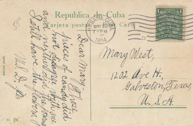 HABANA, Cuba, 1914; Loma del Angel. Narrow Street
