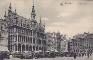 Grand' Place Market Brussels Belgium