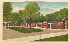 Cheraw South Carolina~Ingram Hotel Court~1940s PC