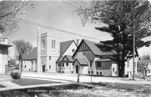 Waukon Iowa~St John's Lutheran Church & Neighborhood View~1964 RPPC Postcard