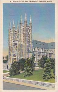 Saint Peter's And Saint Paul's Cathedral Lewiston Maine 1946