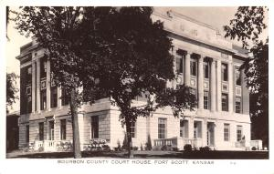 Fort Scott Kansas~Bourbon County Courthouse~RPPC c1934
