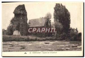 Old Postcard Church Of Honfleur Criquebeuf