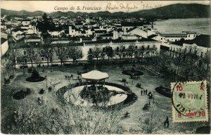 PC CPA AZORES / PORTUGAL, CAMPO DE S. FRANCISCO, VINTAGE POSTCARD (b13589)