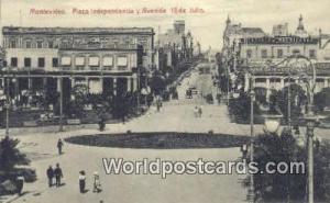 Montevideo Uruguay, South America Plaza Independencia y Avenida 18 de Julio M...
