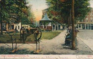 Bradford PA Pennsylvania - Public Square - Cannon and Band Stand - pm 1907 - UDB
