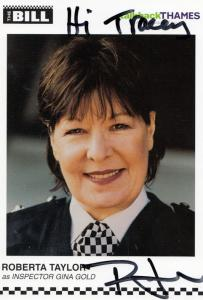 Roberta Taylor ITV The Bill Hand Signed Cast Card Photo