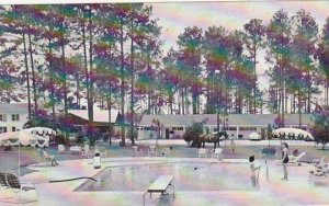 North Carolina Laurinburg Pine Aces Motor Lodge & Rest With Pool 1963