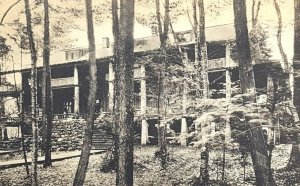 1930s Big Moose, New York , Main Camp, Covewood, Old Vintage Postcard A12