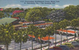 Overlooking Shuffleboard Courts Mirror Lake St Petersburg 1956 Curteich Florida
