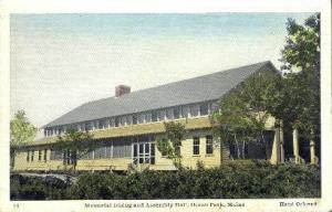 Memorial Dining & Assembly Hall Ocean Park ME Unused