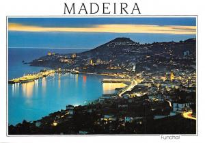 Portugal Funchal (Madeira) Western View, Vue Occidentale at night illuminated