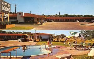Ozona Texas~Flying W Lodge~1966 Postcard