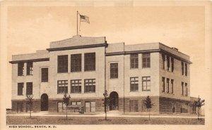F94/ Beach North Dakota Postcard c1910 High School Building