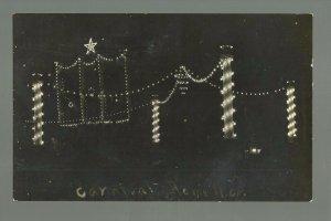 Rome NEW YORK RPPC c1910 ELECTRIC LIGHTS Display CARNIVAL nr Oneida Utica Verona