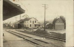 Arkport Steuben Cty NY Feed Mill RR Train Station? c1910 Real Photo Postcard