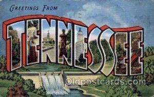 Tennessee Large Letter State 1942 light corner wear, postal used 1942