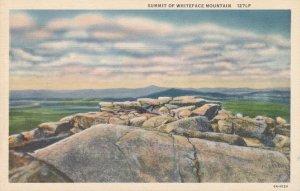 Rocks on Summit - Whiteface Mountain, Adirondacks NY, New York - Linen