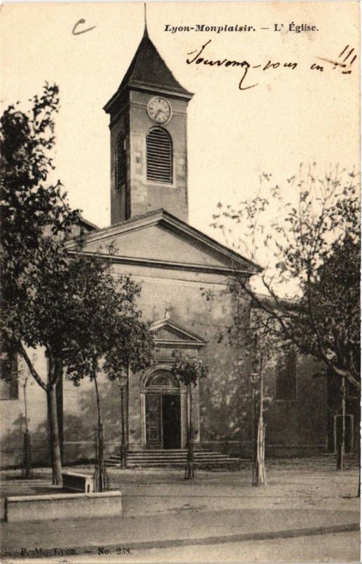 CPA LYON MONPLAISIR. L'Église (443189)