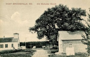 ME - West Brooksville. Old Methodist Church