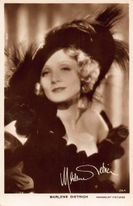 Marlene Dietrich Paramount Pictures Signed Film Star Postcard