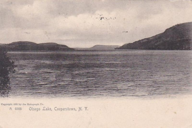 New York Cooperstown Otsego Lake 1905 Rotograph