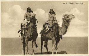 iraq, Iraqi Desert Police on Camel (1920s) Postcard