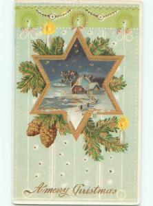 Divided-Back CHRISTMAS SCENE Great Postcard W9658