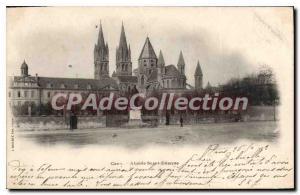 Postcard Old Saint Etienne Caen Apse