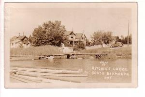 Real Photo, Ritchie's Lodge, South Baymouth, Ontario, 1947 Split Ring Cancel