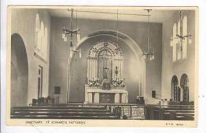 RP Kettering, Uk, 20-40s Church Interior St Edward's