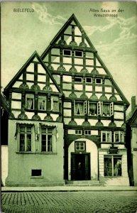 Germany Bielefeld - KREUZSTRASSE - VINTAGE RPPC Postcard