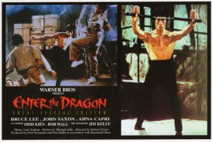 Bruce Lee John Saxon Enter The Dragon Movie Film Postcard