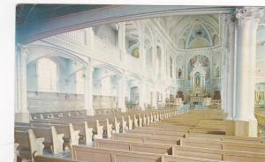 Interior View, Church of Saint-Pierre, Cheticamp, Cape Breton, Nova Scotia, C...