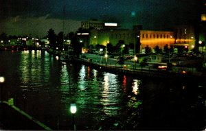 Florida Fort Lauderdale New River At Night