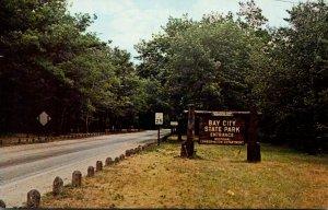Michigan Bay City Bay City State Park Entrance Sign 1967