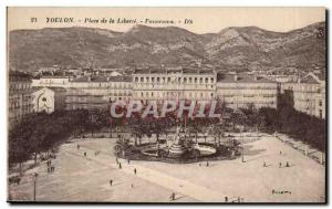 Old Postcard Toulon Freedom Square Panorama