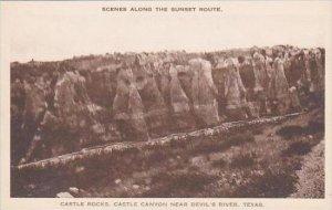 Texas Castle Rocks Castle Canyon Near Devil's River Albertype
