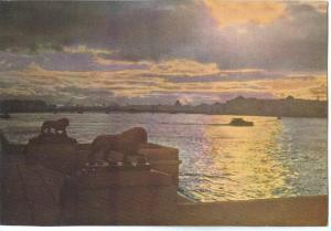 Russia, St. Petersburg, Leningrad, White Night, 1967 unused Postcard