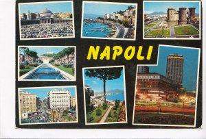 Italy, Italia, NAPOLI, multi view, 1972 used Postcard