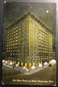 Mint Usa Picture Postcard The Hotel Patten By Night Chattanooga TN