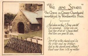 We are Seven The Grave in Conway Churchyard immortalized by Wordsworth's Poem