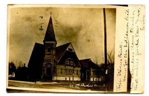 WI - Stevens Point. St. Paul's Methodist Church.  *RPPC