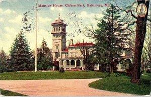 Mansion House Clifton Park Baltimore Md. Vintage Postcard Standard View Card
