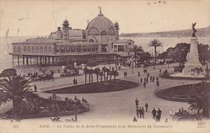 France Nice Le Palis de la Jetee-Promenade et le Monument du Centenaire 1920