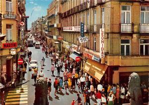 Belgium Blankenberge Kerkstraat Street Shops Hotel Promenade