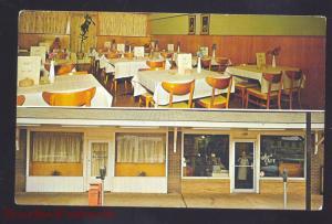 ST. CLAIR MISSOURI LEWIS CAFÉ RESTAURANT INTERIOR ROUTE 66 VINTAGE POSTCARD