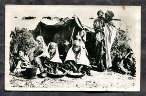 dc1000 - ALGIERIA 1950 Women Mixing Dough Real Photo Postcard