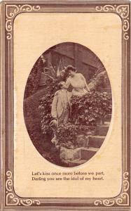 CENTRAL CITY MISSOURI PSTMK~KISS ONCE MORE BEFORE WE PART~ROMANCE POSTCARD 1912